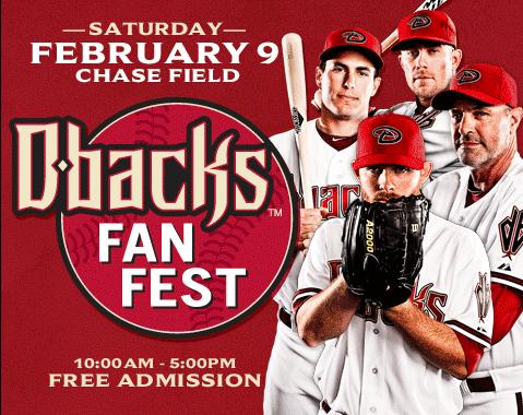Arizona Diamondbacks D-backs FanFest 2013 flyer