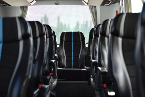 how many seats does a charter bus have
